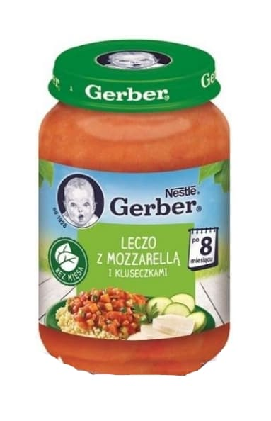 Gerber-задушени зеленчуци с моцарела и паста 8м+ 190гр