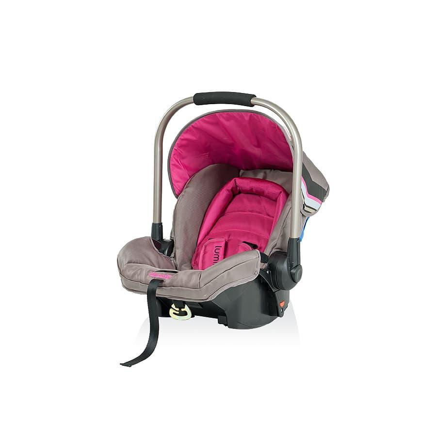 Детско столче за кола ЛУМИНА - Цвят: Розов