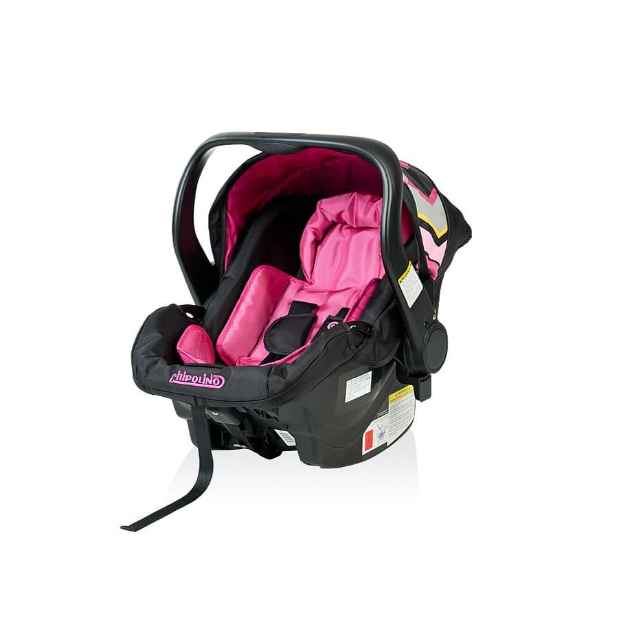 Детско столче за кола Еуфория - Цвят: Розов
