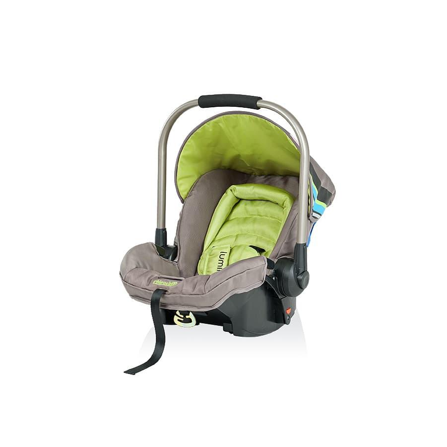 Детско столче за кола ЛУМИНА - Цвят: Зелен
