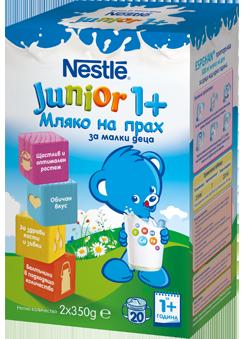 Nestle junior1 млечна напитка с натурален вкус 1г+ 2х350гр