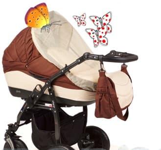 Мрежа против насекоми за детска комбинирана количка