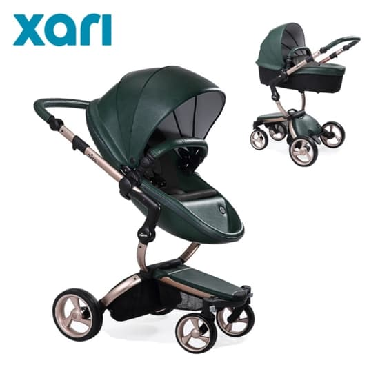 Бебешка количка Mima Xari British green 2в1