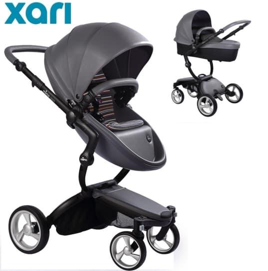 Бебешка количка Mima Xari Cool grey 2в1