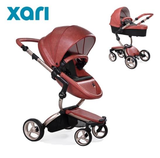 Бебешка количка Mima Xari Sicilian red 2в1