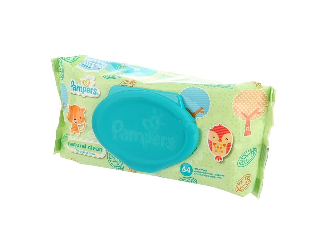 Pampers-мокри кърпи Natural clean 64бр