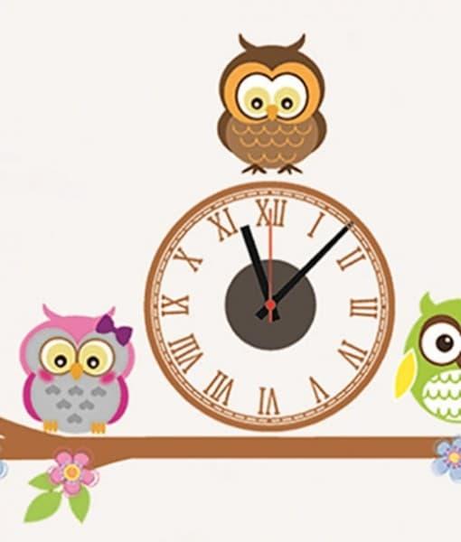Стикер-часовник Сова