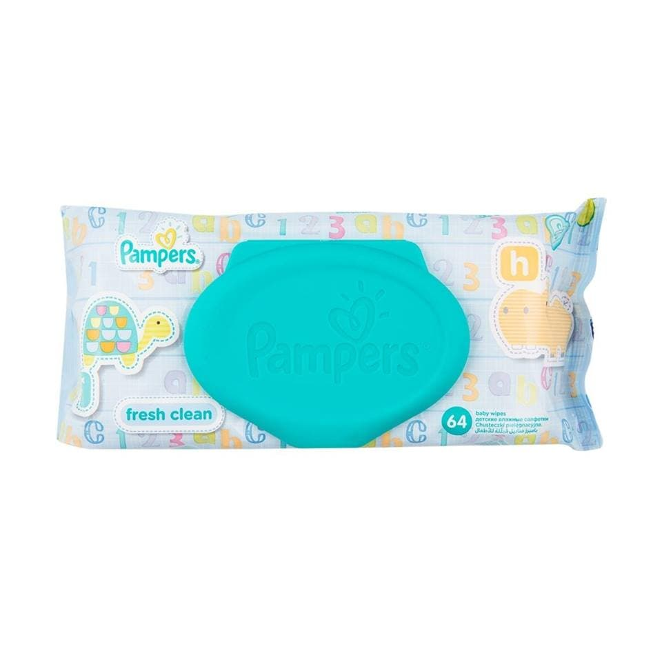 Pampers-мокри кърпи Fresh clean 64бр