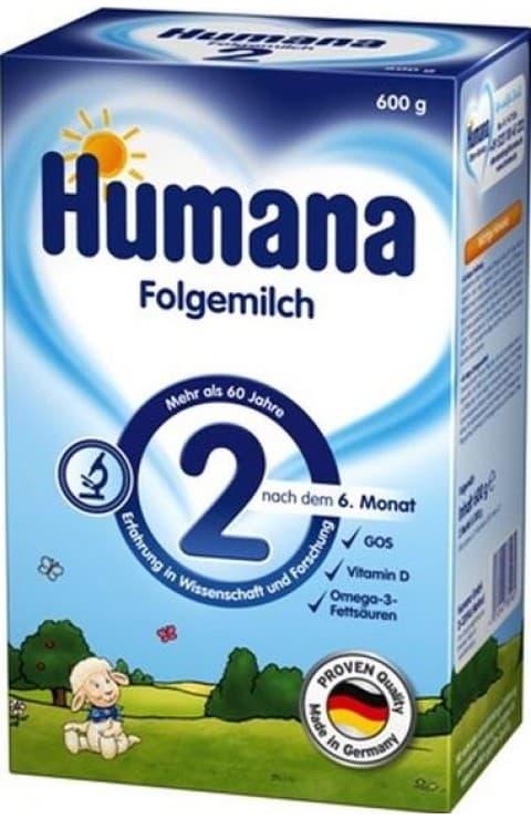 Humana2- адаптирано мляко с пребиотик 6м+ 600гр