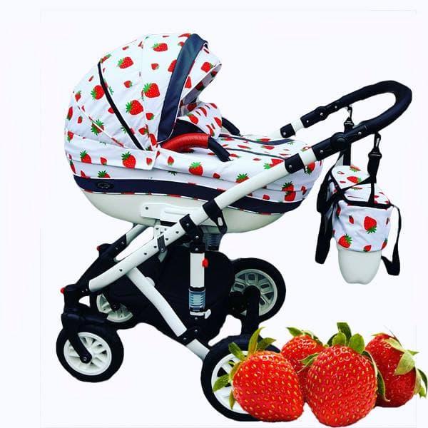 Бебешка количка 3в1 Carrera fruit цвят:strawberry