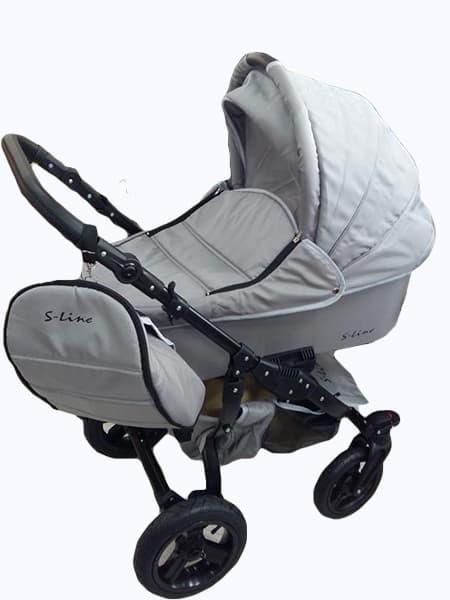 Бебешка количка S-line standart 3в1 цвят:сив