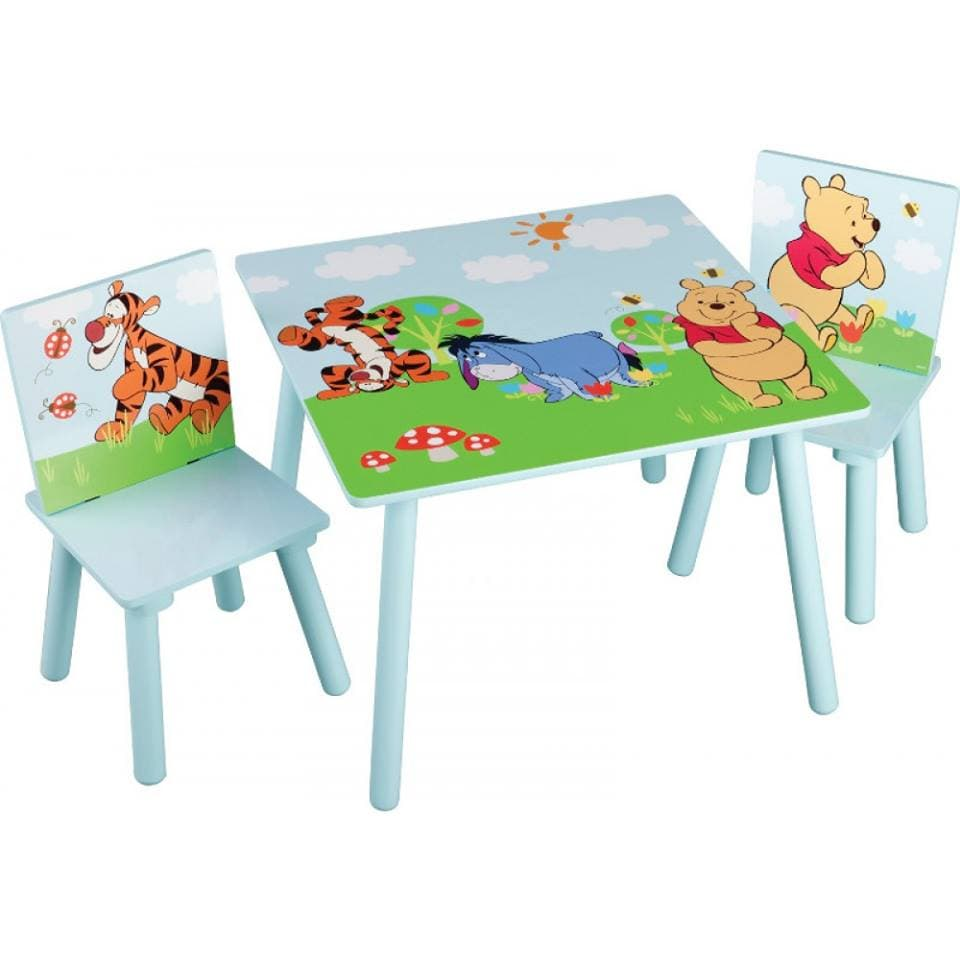 Детска масичка с 2 столчета Мечо Пух