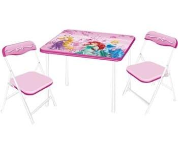Детска маса с 2 столчета Princess-сгъваеми
