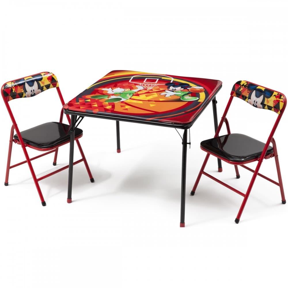 Детска маса с 2 столчета Mickey Mouse-сгъваеми