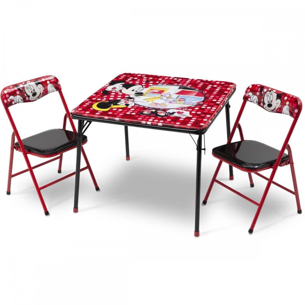 Детска маса с 2 столчета Minnie Mouse-сгъваеми