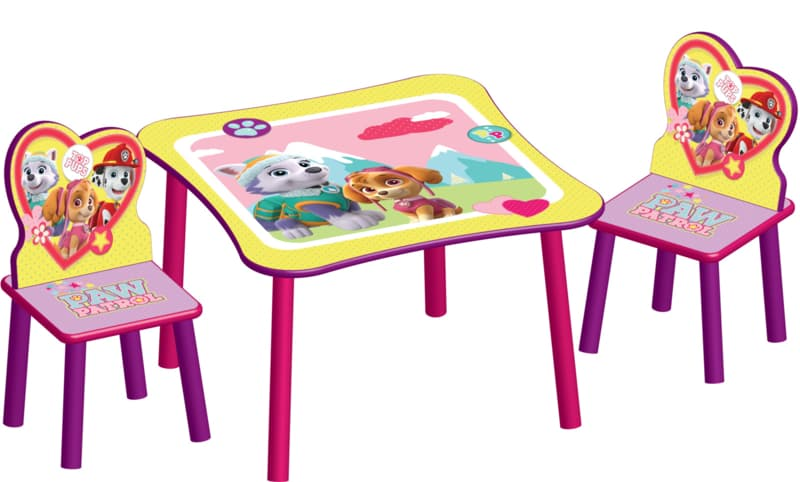 Детска масичка с 2 столчета Paw patrol:pink