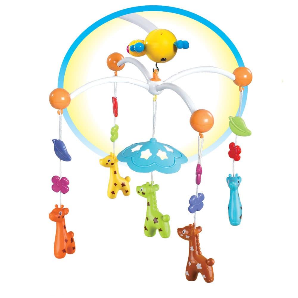 Музикална въртележка с дистанционно Веселото жирафче