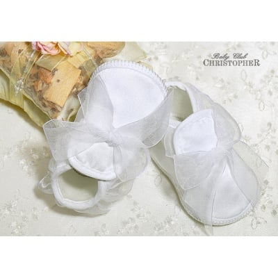 Бебешки обувки с панделка сатен