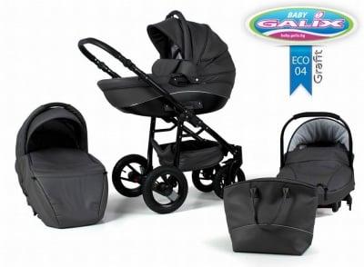 Adbor-Бебешка количка 3в1 Nemo Exclusive цвят: графит