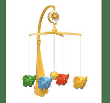 Бебешка музикална въртележка слончета