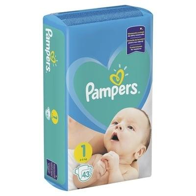 Pampers Newborn1  2-5кг 43бр