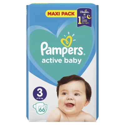 Pampers Active baby Midi3 6-10кг 66бр
