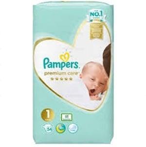 Pampers Premium care Newborn1 2-5кг 54бр