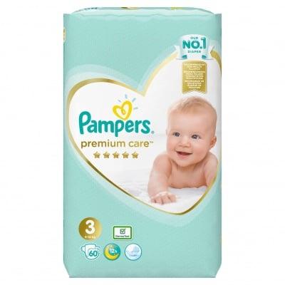 Pampers Premium care Midi3 6-10кг 60бр