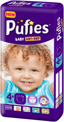 Pufies Baby Art+Dry Maxi plus4+ 9-16кг 50бр