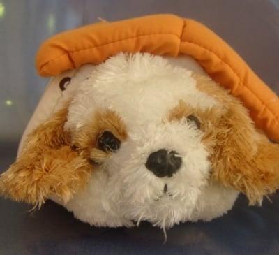 Детска плюшена играчка кученце с колибка 3г+