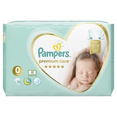 Pampers Premium care New born 0 30бр