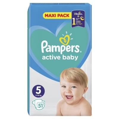 Pampers Active baby Junior5 11-16кг 51бр