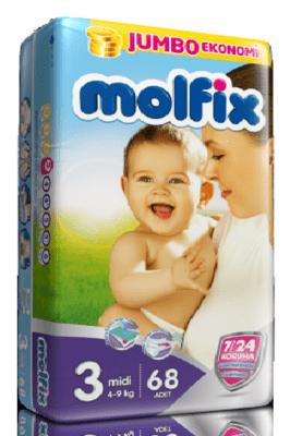 Molfix3 4-9кг 68бр