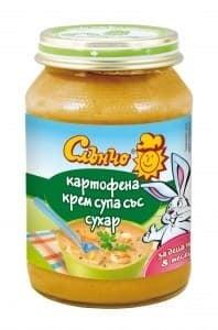 Слънчо-Картофена крем супа със сухар 8м+ 190гр