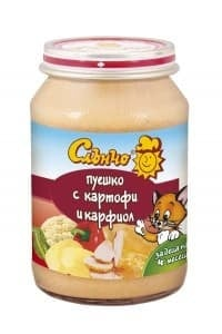 Слънчо-Пуешко с картофи и карфиол 4м+ 190гр
