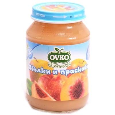 Ovko-Ябълки и праскови 4м+ 190гр