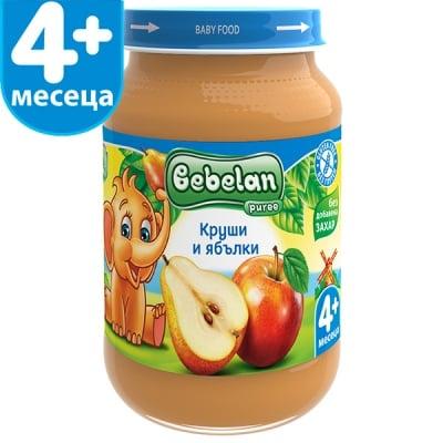 Bebelan-Круши и ябълки и витамин C 4м+ 190гр