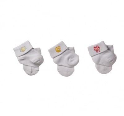 Бебешки чорапки 434 бели 0-6м