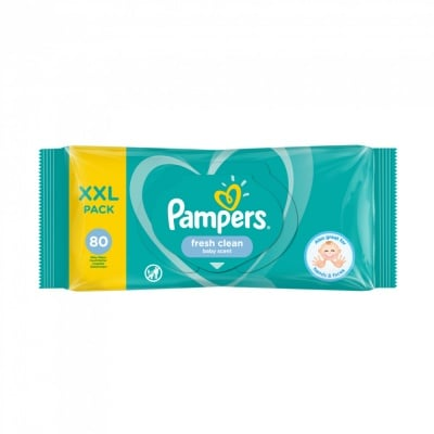 Pampers-мокри кърпи Fresh clean XXL 80бр