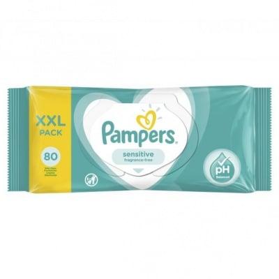 Pampers-мокри кърпи Sensitive XXL 80бр
