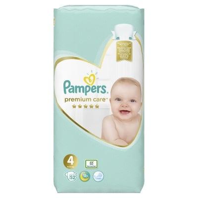 Pampers Premium care Maxi4 9-14кг 52бр