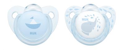 Nuk- залъгалка силикон 2бр Blue 0-6м