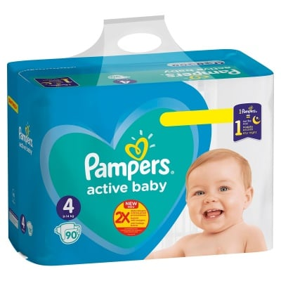 Pampers Active baby Maxi4 9-14кг 90бр