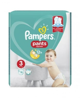 Pampers еднократни гащи Midi3 6-11кг 19бр