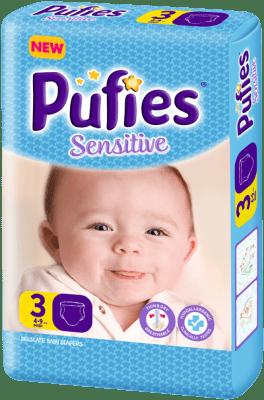 Pufies Sensitive Midi3 4-9кг 20бр