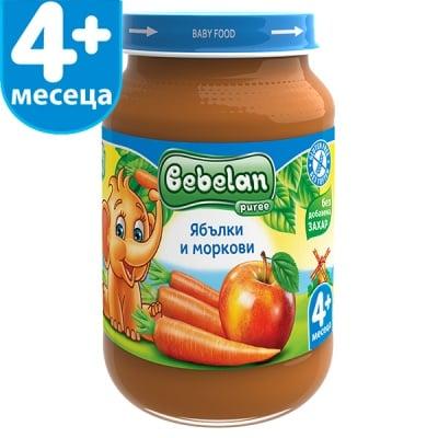 Bebelan-Ябълки и моркови 4м+ 190гр