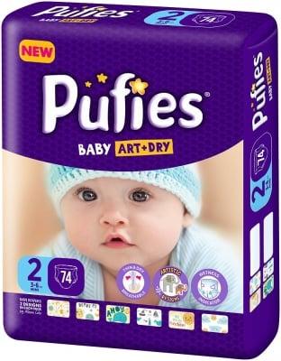 Pufies Baby Art+Dry Mini2 3-6кг 74бр