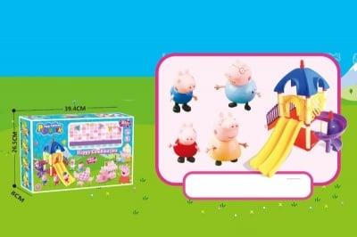 Arm toys- Пързалка с 4 фигури Peppa Pig
