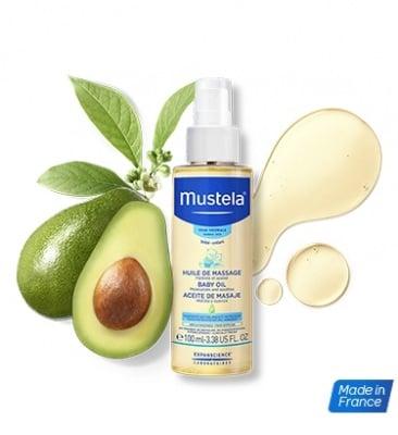 Mustela-Масажно олио спрей 100мл