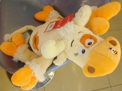 Детска плюшена играчка кравичка 3г+